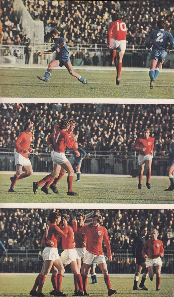 1st December 1971. England striker Geoff Hurst opening the scoring against Greece in the Nations Cup, in Athens.