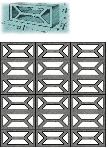 Architectural Screen Blocks : Best images about mid century decorative concrete on