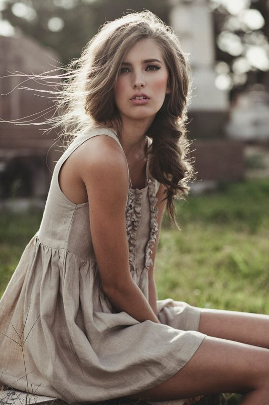 : Summer Dresses, Fashion Styles, Cute Dresses, Hairs Color, Messy Braids, Neutral Tones, The Dresses, Side Braids, Hairs Makeup