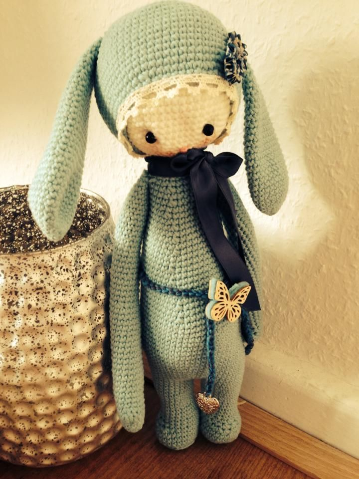 RITA the rabbit made by Annika B. / crochet pattern by lalylala
