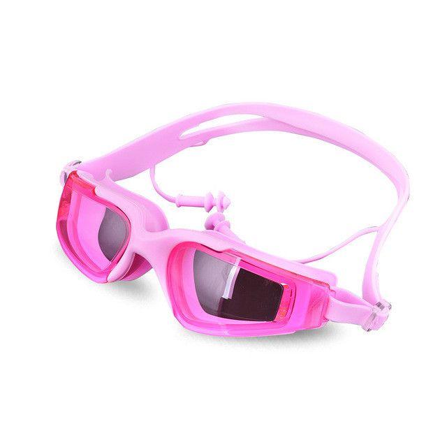 Swimming Goggles Earplugs One Piece Fashion Adult Swimming Water Sport Accessories Waterproof Anti-UV Swim Diving Goggle Earplug