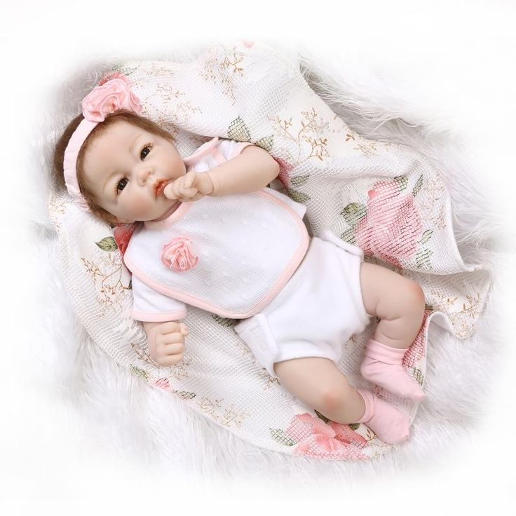 Newborn Silicone Reborn Baby Girls Dolls Lifelike Vinyl Girls Babies Birthday Gift Present for Child Early Education Bedtime Toy-in Dolls from Toys & Hobbies on Aliexpress.com | Alibaba Group