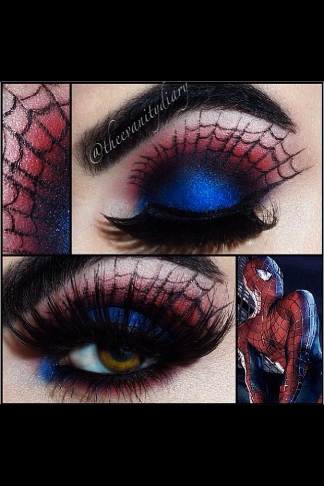 Spider-Man Face Makeup