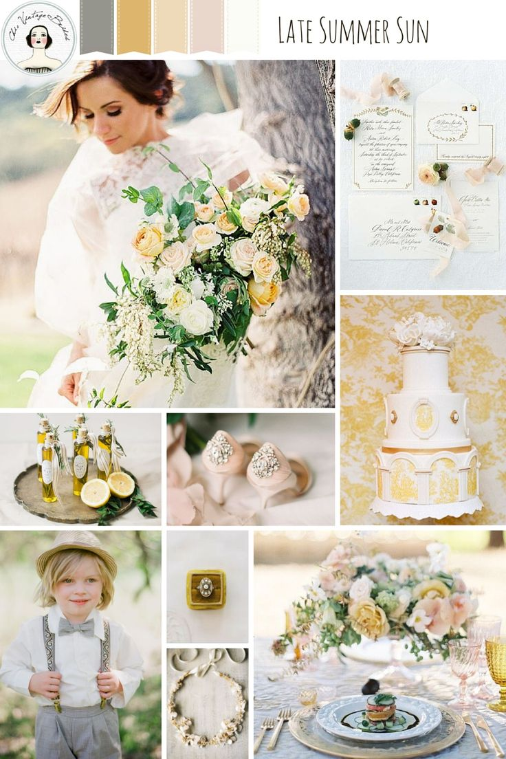 Late Summer Sun – Romantic Wedding Inspiration in Shades of Dusky Yellow and Pink