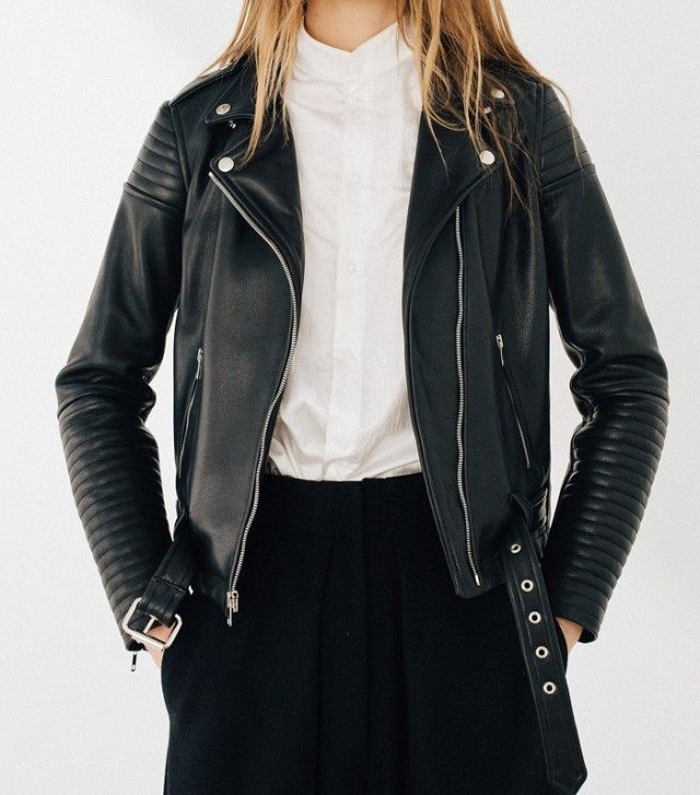 Laer Brand Quilted Racer Leather Jacket