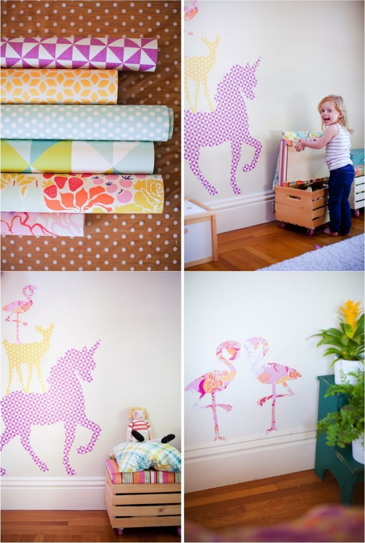 DIY animal wall stickers with free printable: Decals Ideas, Baby Kids, Wallpapers Decals, Wall Decals, Animal Wall Stickers, Removal Wallpapers, Giant Animal, Diy Animal, Kids Rooms