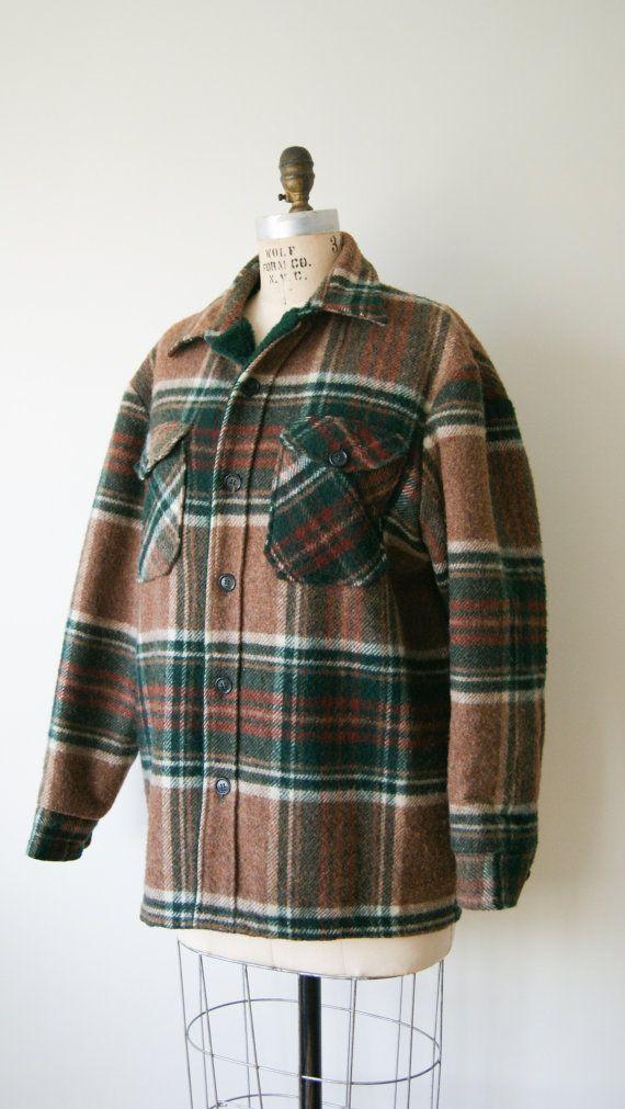 Vintage Plaid Jacket. Woolrich Shirt Coat