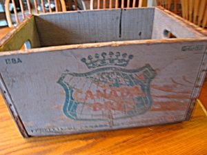 Antique Canada Dry wooden crate for sale at More Than McCoy on TIAS in the Advertising/Soda Pop category!