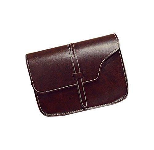 Oferta: 3.1€. Comprar Ofertas de FEITONG Muchacha de las mujeres del bolso de hombro de cuero de imitación del bolso de la taleguilla de Crossbody de asas (B) barato. ¡Mira las ofertas!