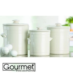 White Kitchen Canister Sets Fitz Amp Floyd Claire S