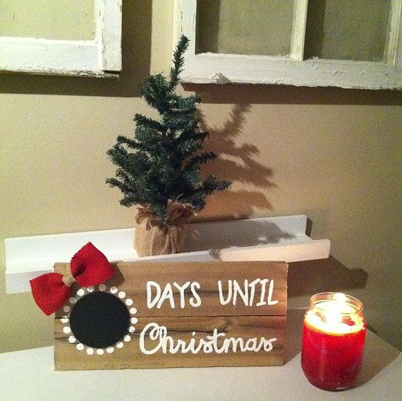 This listing is for one Christmas Countdown home décor sign. This sign also includes the chalk for the mini chalkboard. Each sign is made to