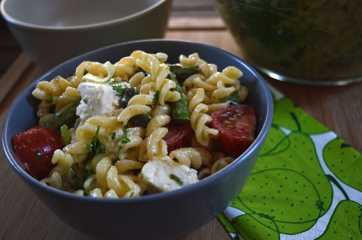 Spring Lemon Pasta Salad With Asparagus