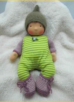Waldorf doll Baby Merle, 34 cm groß by Allerleipuppen