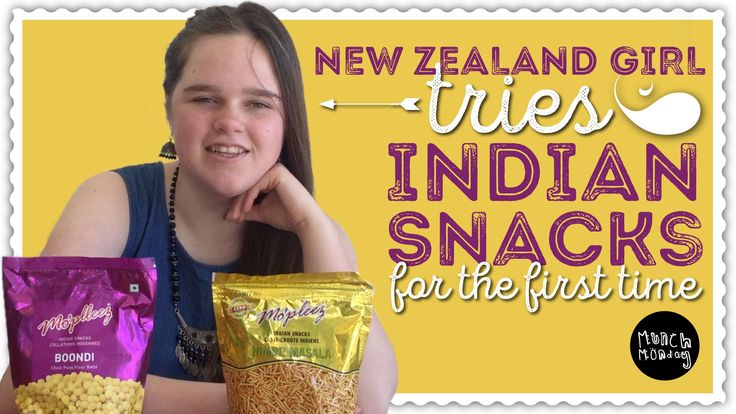 trying Indian Snacks for the first time | Munch Monday (EP84).  In this Munch Monday episode, Mia, a New Zealand girl tries some Indian Snacks for the first time.  Mia tries the following India snacks: • Mo'pleez 'Boondi' Chick Peas Flour Balls. Chat Masala Sachet inside. Indian Snacks. • Mo'pleez 'Nimbu Masala' Spicy and Sour Extruded Snacks. #india #indianfood #food #foodie #youtube #kidsyoutube