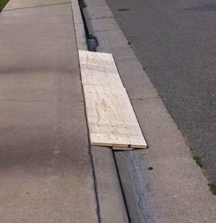 Wood DIY Curb ramp