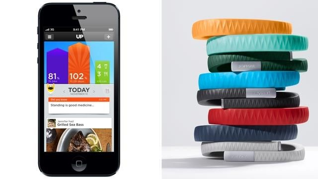Jawbone Up bracelet collects your activity and syncs it with your phone.  I just got mine and its so cool!  Get yours too so we can network.