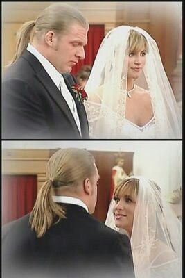 Triple H and Stephanie's wedding