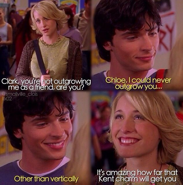 """It's amazing how far that Kent charm will get you"" - Chloe and Clark ((I love their friendship throughout the whole series)) #Smallville"