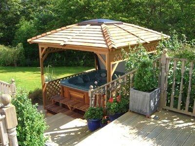 Best 25 hot tub gazebo ideas on pinterest hot tub bar for Home hardware gazebo plans