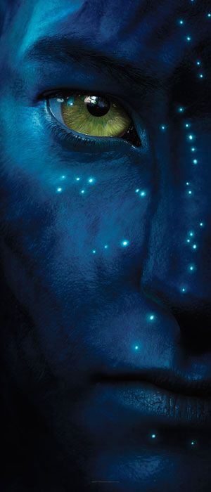 "Sam Worthington as Jake Sully in the movie, ""Avatar."""