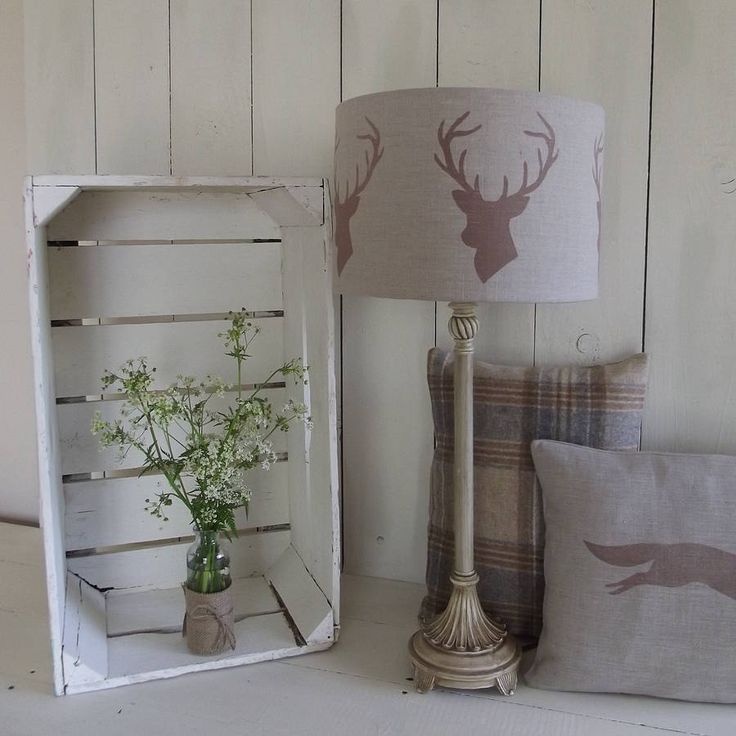 stags head linen lampshade by rustic country crafts | notonthehighstreet.com