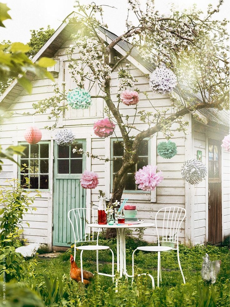 garden shed / outdoor party styling