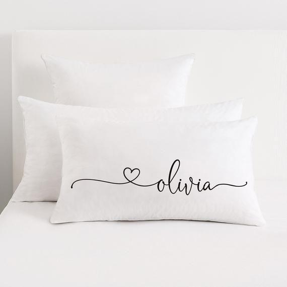 personalized name lumbar pillow etsy