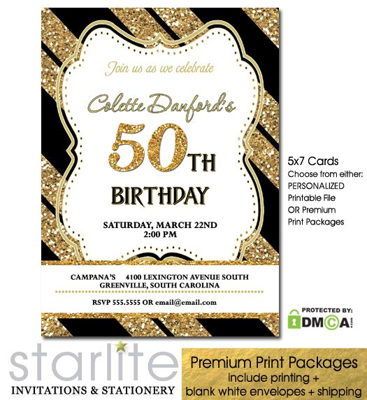 25 best ideas about 50th birthday invitations on for 50th birthday decoration packages