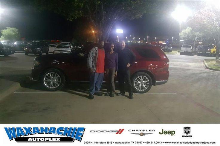 https://flic.kr/p/NrVB8q | Congratulations Jazmyn And Michael on your #Dodge #Durango from Henrex McCrimon at Waxahachie Dodge Chrysler Jeep! | deliverymaxx.com/DealerReviews.aspx?DealerCode=F068