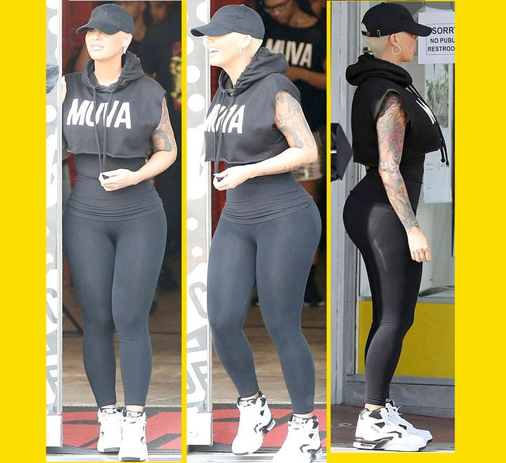 We Hate To COMPARE WOMEN . . . But You Gotta Admit . . . Amber Rose Is Now CLEARLY BETTER Than Kanye's Current Wife . . . Kim KARDASHIAN!!! (Pics Of Her Face . . . And BODY)