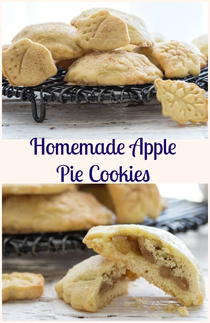 Homemade Apple Pie Cookies, a delicious made from scratch easy cookie recipe, filled with a delicious apple cinnamon filling. Perfect! via /https/://it.pinterest.com/Italianinkitchn/