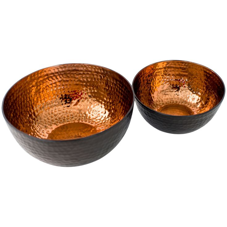 Just Slate Copper Serving Bowls, Set of 2 from John Lewis