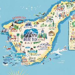 Tenerife map.
