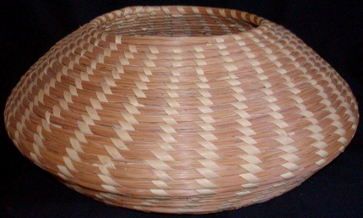 S Carolina Sweetgrass Basket Bowl - Ovoid Shape - 1970's