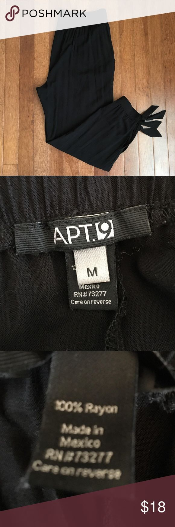 Women's Apt. 9® Ankle Soft Pants These are like-new and  were only worn 2 times. They have an elastic waist and cute little ties at the ankle. They are a size MEDIUM! Apt. 9 Pants Track Pants & Joggers