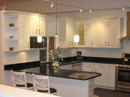 White Ivory Maple Cabinets With Black Galaxy Granite Ok