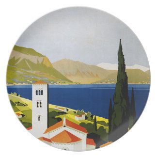 Italian Lakes Vintage Travel Poster Plate  sc 1 st  Pinterest & 10 best Italian party decorating ideas images on Pinterest | Italian ...