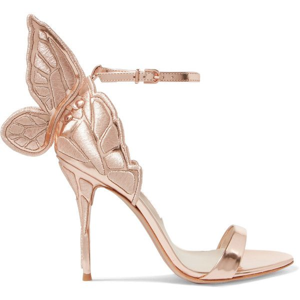 Sophia Webster Chiara embroidered metallic leather sandals (760 AUD) ❤ liked on Polyvore featuring shoes, sandals, pink, high heeled footwear, strap sandals, high heel shoes, strappy leather sandals and strappy high heel sandals