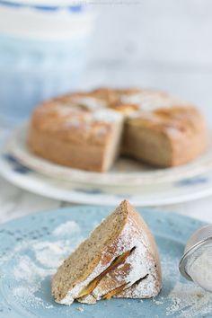 Torta di mele con grano saraceno e farina di mandorle   Senza zuccheri e farine raffinate   dietetica e leggera solo 35g olio o burro di mandorle 