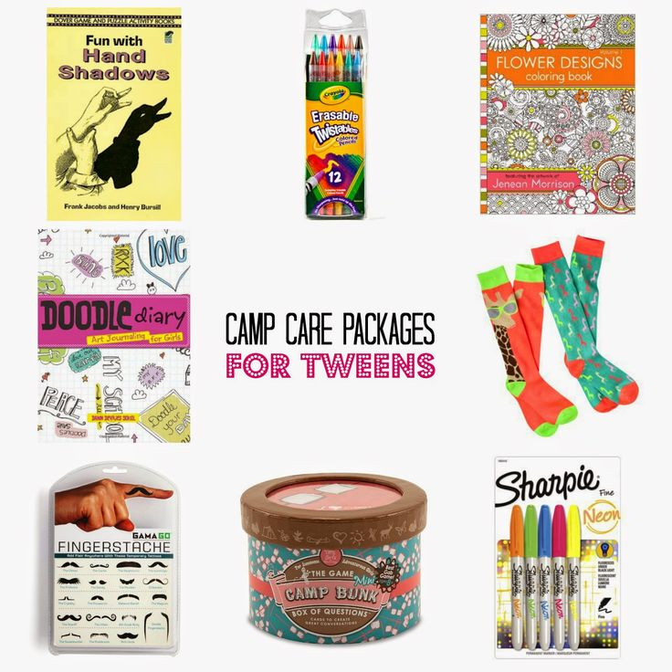 1200 Miles Away: Tweendom Kingdom: Camp Care Packs for Tweens - great camp mail packages to send your kids while away at camp.