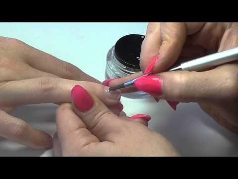 Nail Tutorial: Hard Gel Overlay - YouTube
