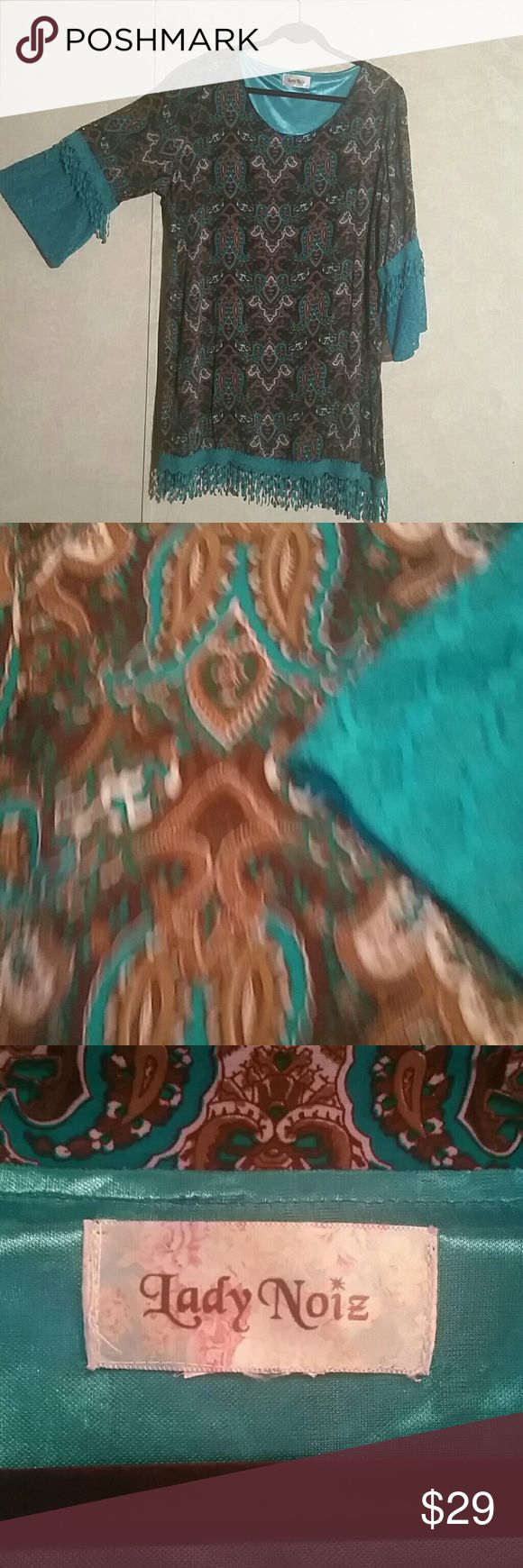 Marvelous Paisley tunic One of my favorite prints paisley This tunic offers soft flowing rayon