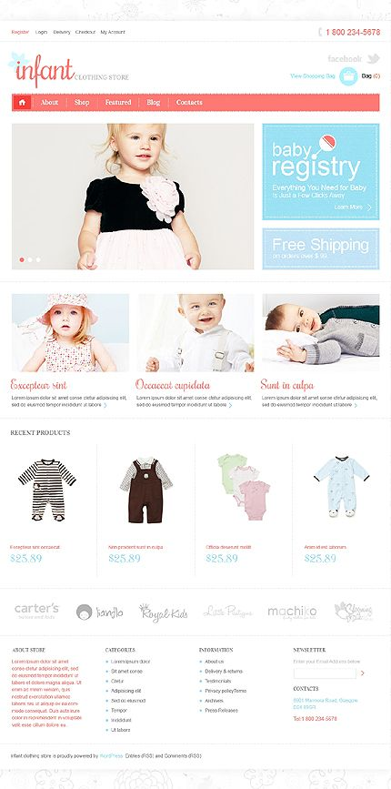 Infant Clothes Jigoshop Themes by Mercury