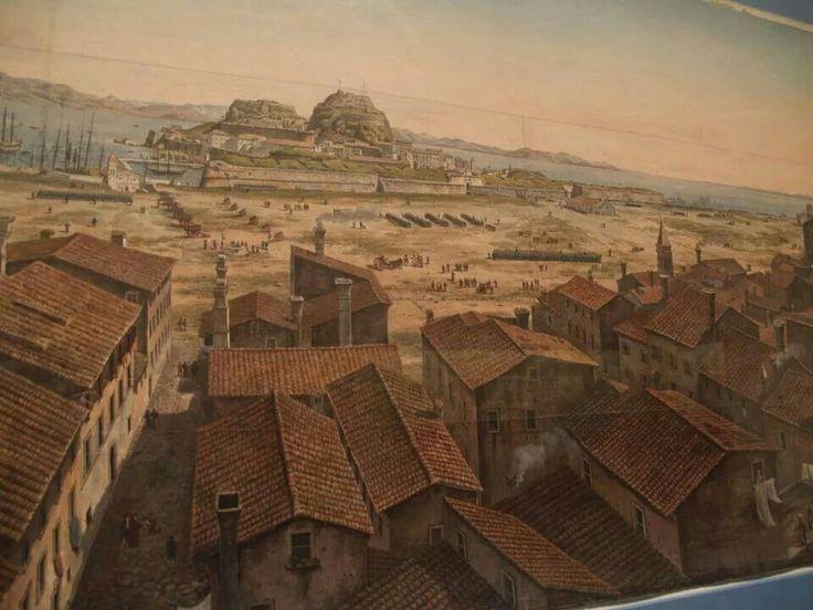 Part of large panorama corfu town 1806