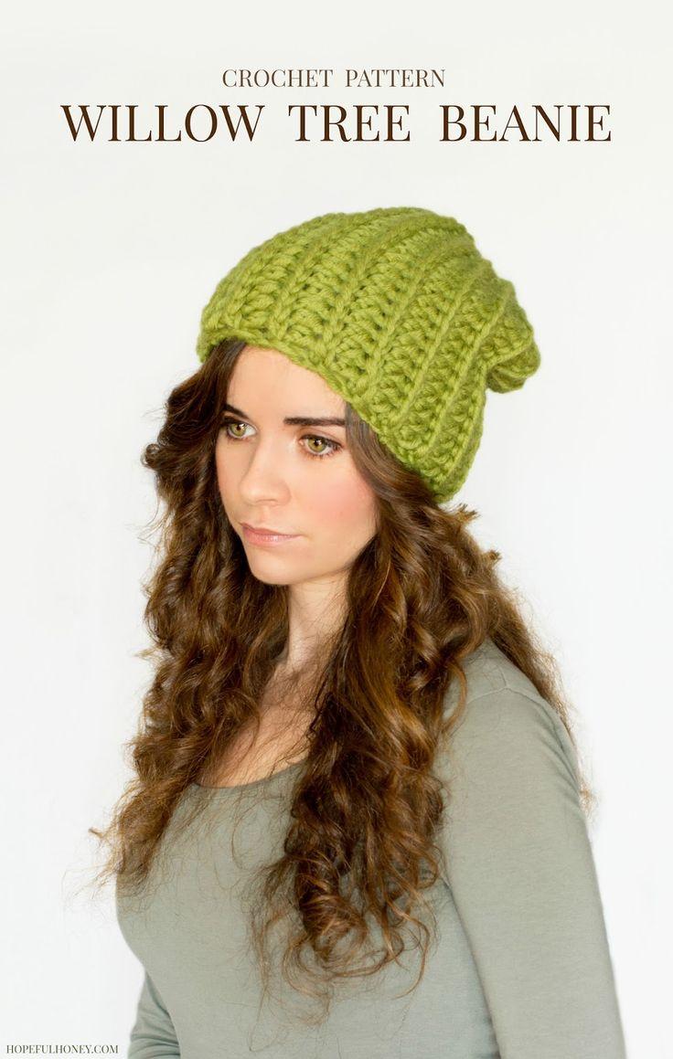 Hopeful Honey | Craft, Crochet, Create: Chunky Willow Tree Slouchy Beanie Crochet Pattern