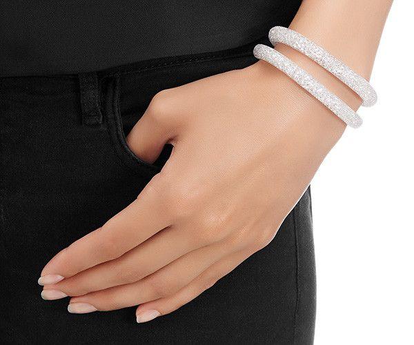 LOVE. Stardust Gray Double Bracelet from #Swarovski