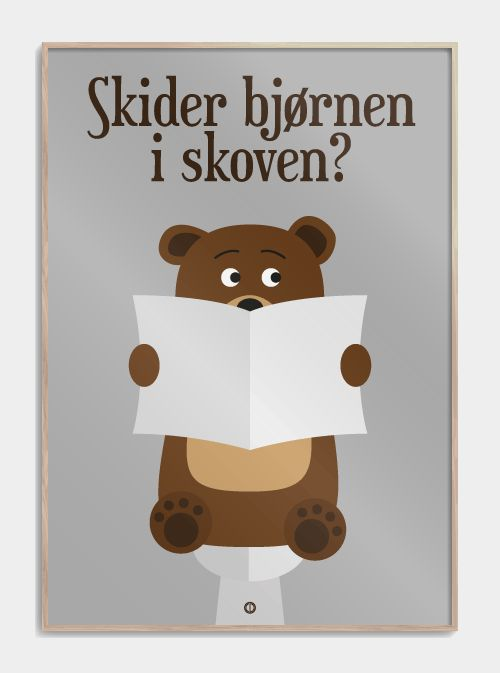 """Langt fra Las Vegas er en genial serie! Og udbredelsen af dette citat viser også hvor populær den er. Se """"Skider bjørnen i skoven"""" - plakaten lige her."""