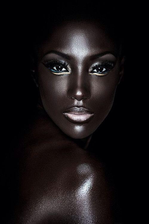Highlights on black skin lighting - amazing