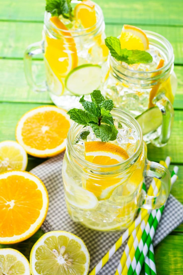 6 Ricette per Acqua Aromatizzata alla Frutta Arancia e Limone
