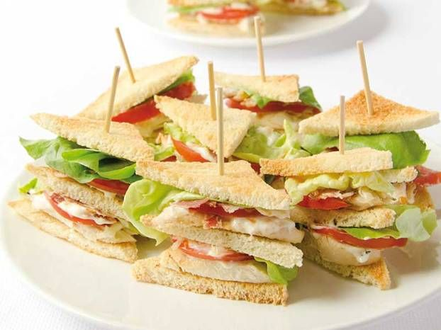 Club sandwich finger food antipasti finger food for Club sandwich fillings for high tea